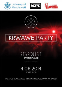 Krwawe Party Plakat
